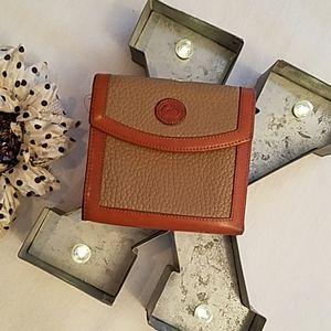 Dooney & Bourke Leather Tri-fold Wallet & Coin